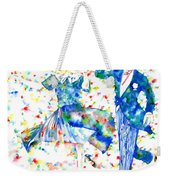 Fred Astaire And Ginger Rogers Watercolor Portrait Weekender Tote Bag