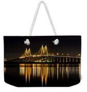 Fred Hartman Bridge Weekender Tote Bag