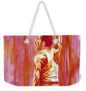 Freddie Mercury Singing Portrait.3 Weekender Tote Bag