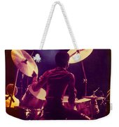 Freddie White Playing Drums Spirit Tour Weekender Tote Bag