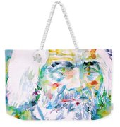 Frederick Douglass - Watercolor Portrait Weekender Tote Bag