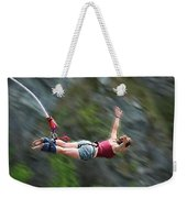 Free As A Bird Bungee Jumping Weekender Tote Bag