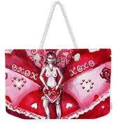Free As A Valentines Love Weekender Tote Bag by Shana Rowe Jackson