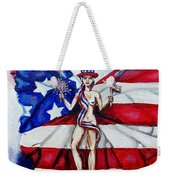 Free As Independence Day Weekender Tote Bag by Shana Rowe Jackson