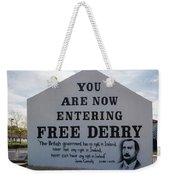 Free Derry Corner, Republican Political Weekender Tote Bag