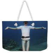 Freediver Underwater Weekender Tote Bag by Hagai Nativ