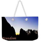 Freedom Means 002 Weekender Tote Bag