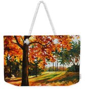 Freedom Of Autumn - Palette Knife Oil Painting On Canvas By Leonid Afremov Weekender Tote Bag