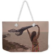 Freedom On Top Of A Cliff Weekender Tote Bag