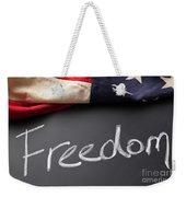 Freedom Sign On Chalkboard Weekender Tote Bag