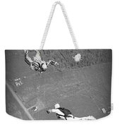 Freefalling Nova Scotia Skydivers In Stewiacke Weekender Tote Bag