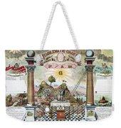 Freemason Emblematic Chart Weekender Tote Bag