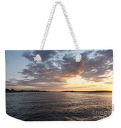 Freeport Cloudy Summertime Sunset Weekender Tote Bag
