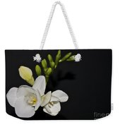 Freesia On Black Weekender Tote Bag