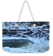 Freezing Dam Weekender Tote Bag