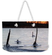 Freezing Lake Weekender Tote Bag