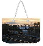 Freight Sunset Weekender Tote Bag