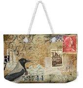 French Bird Postcard Weekender Tote Bag