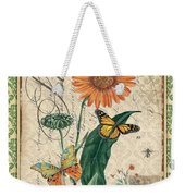 French Botanical Damask-a Weekender Tote Bag