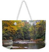 French Broad River In Fall Weekender Tote Bag