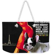 French Bulldog Art - Una Parigina Movie Poster Weekender Tote Bag