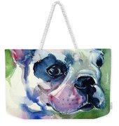 French Bulldog Painting Weekender Tote Bag