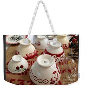 French Cafe Bowls Weekender Tote Bag