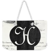 French Champagne Monogram Weekender Tote Bag