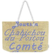 French Cheeses-1 Weekender Tote Bag