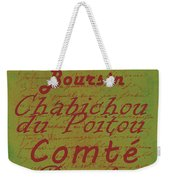 French Cheeses - 4 Weekender Tote Bag