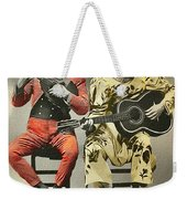 French Clown Musicians Vintage Art Reproduction Tint Weekender Tote Bag