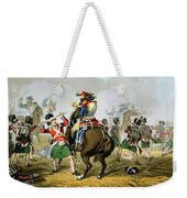 French Cuirassiers At The Battle Weekender Tote Bag by John Augustus Atkinson