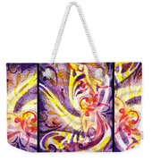French Curve Abstract Movement Vii Happy Trio Weekender Tote Bag