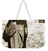 French Lady With A Very Large Bread France 1900 Weekender Tote Bag