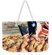 French Propaganda Poster Published In Algeria From World War II 1943 Weekender Tote Bag