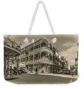 French Quarter Afternoon Sepia Weekender Tote Bag