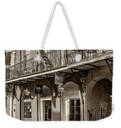 French Quarter Art And Artistry Sepia Weekender Tote Bag