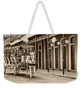 French Quarter Carriage Ride Sepia Weekender Tote Bag