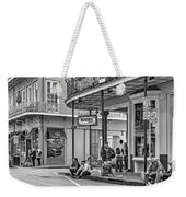 French Quarter - Hangin' Out Bw Weekender Tote Bag by Steve Harrington