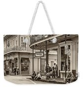 French Quarter - Hangin' Out Sepia Weekender Tote Bag