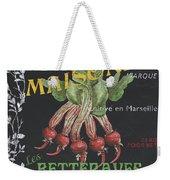 French Veggie Labels 2 Weekender Tote Bag by Debbie DeWitt