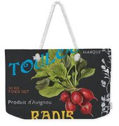 French Veggie Labels 3 Weekender Tote Bag
