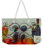 French Wine Rack Weekender Tote Bag