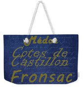 French Wines - 2 Champagne And Bordeaux Region Weekender Tote Bag