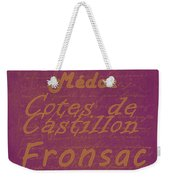 French Wines-3 - Champagne And Bordeaux Region Weekender Tote Bag