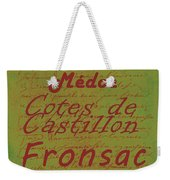 French Wines - 4 Champagne And Bordeaux Region Weekender Tote Bag