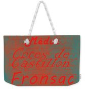 French Wines - 5 Champagne And Bordeaux Region Weekender Tote Bag