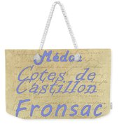 French Wines - Champagne And Bordeaux Region-1 Weekender Tote Bag