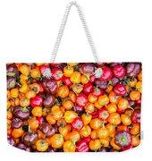 Fresh Colorful Hot Peppers Weekender Tote Bag