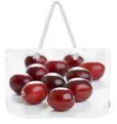 Fresh Cranberries Isolated Weekender Tote Bag